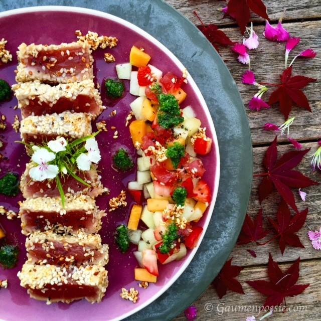 Thunfischsteak mit Melonensalat 2