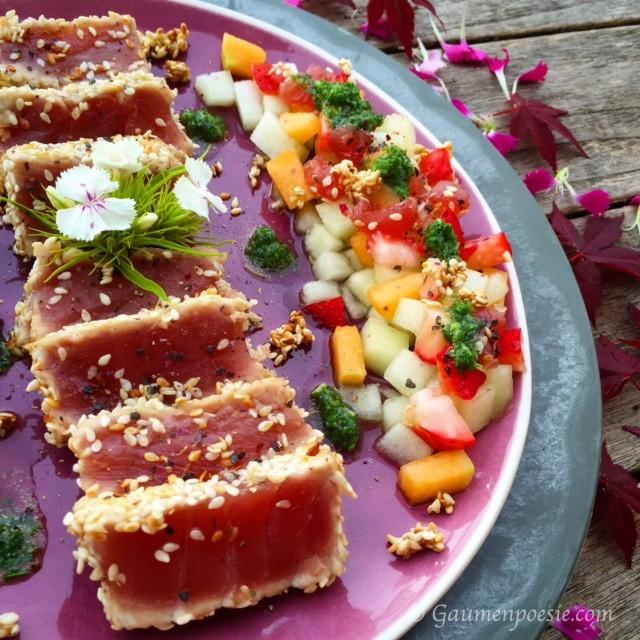 Thunfischsteak mit Melonensalat 1