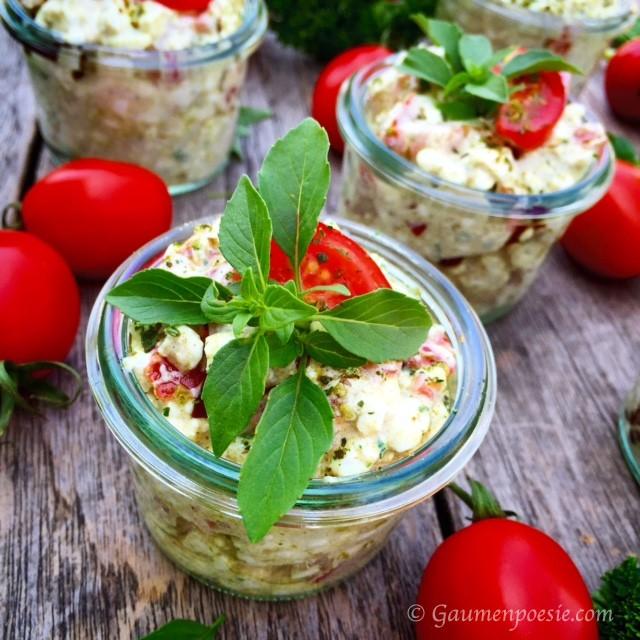 Hüttenkäse Salat 4