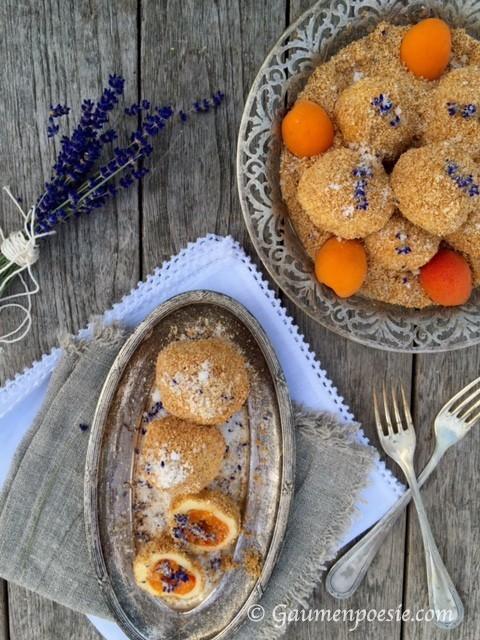 Marillenknödel mit Lavendelzucker 2