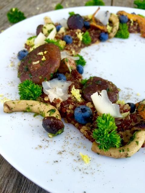 Pilz Quinotto mit Heidelbeeren