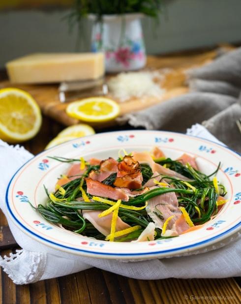 Mönchsbart-Salat mit Speckstreifen 1