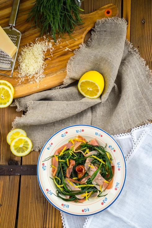 Mönchsbart-Salat mit Speckstreifen 2