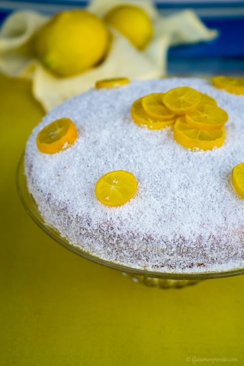 Zitronenkuchen mit Kokosflocken (1