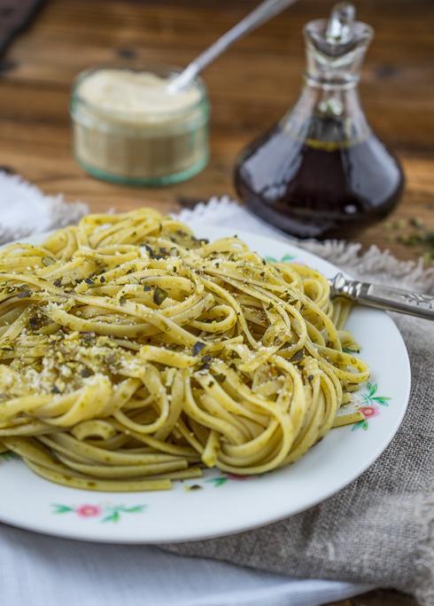 Kürbiskernöl - Spaghetti mit gerösteten Kürbiskernen 3