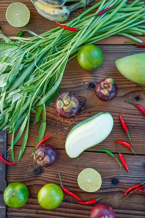 Inonesisches Obst und Gemüse