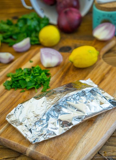 Ofenlachs - Lachsfilet mit Petersilie und Zitrone 2