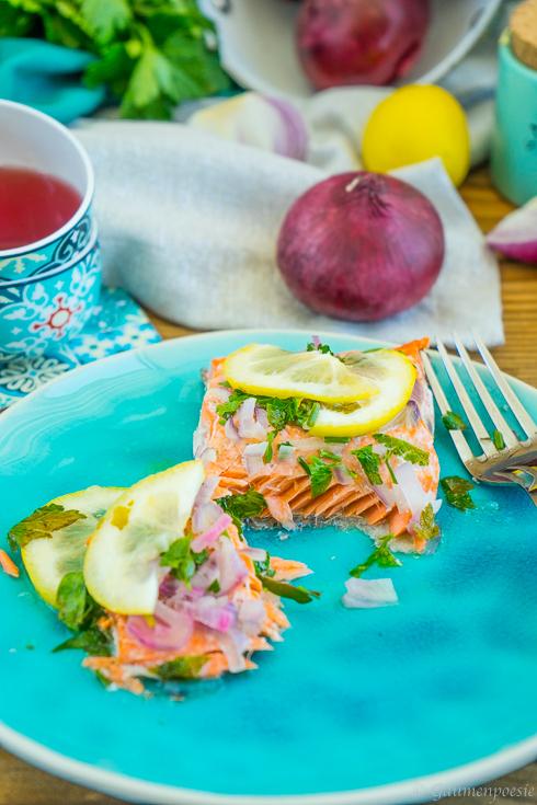 Ofenlachs - Lachsfilet mit Petersilie und Zitrone 6