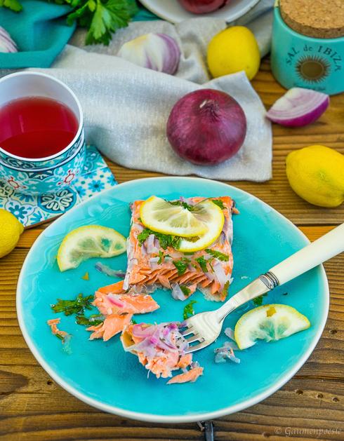Ofenlachs - Lachsfilet mit Petersilie und Zitrone 4