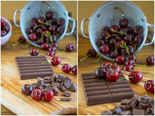 Topfen-Kirsch-Knödel mit Schokoladenkern und Kirschsauce 6