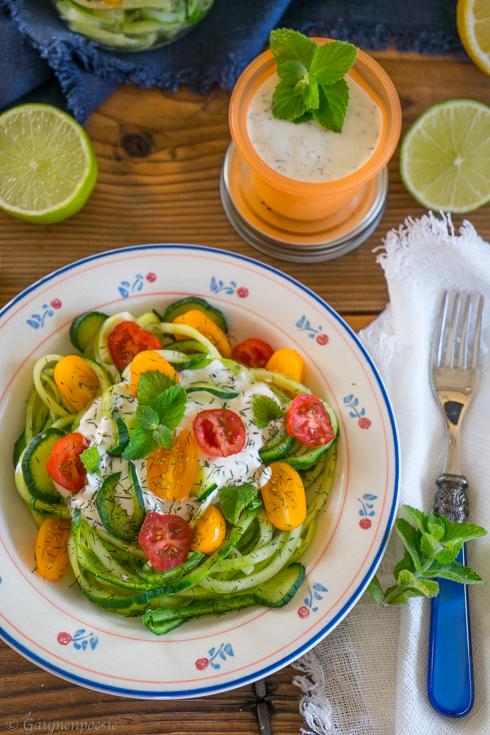 Gurken-Spaghetti-Salat 5