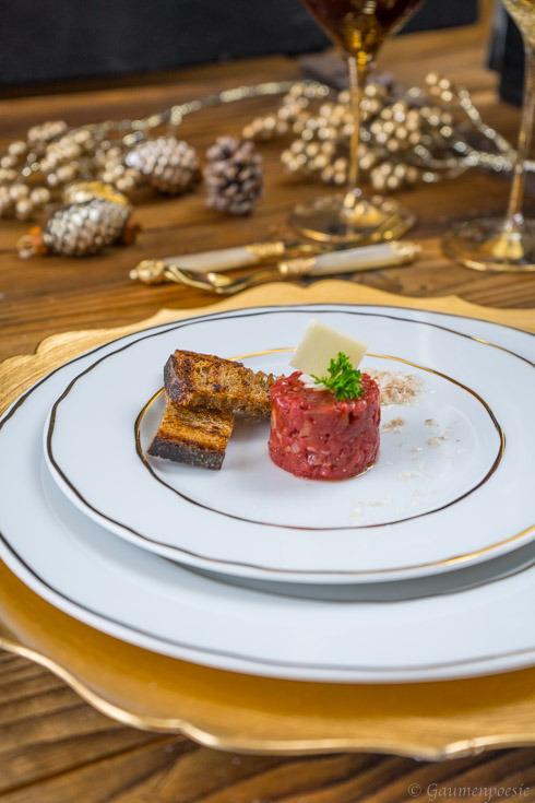 Beef Tatar mit Trüffelöl 3