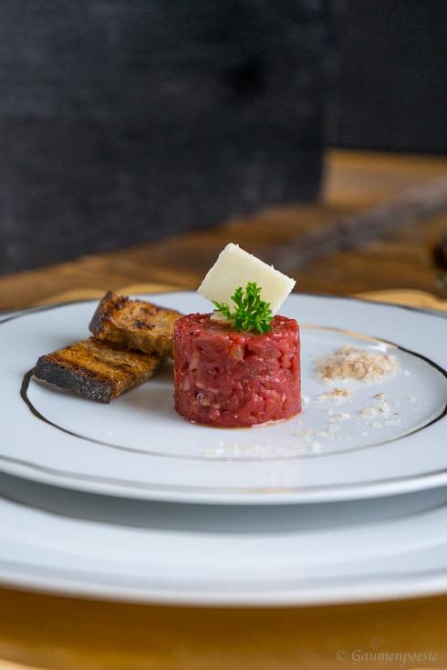 Beef Tatar mit Trüffelöl 2