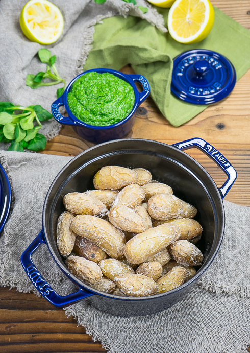 Kanarische Salzkartoffel mit Feldsalat-Pesto 3