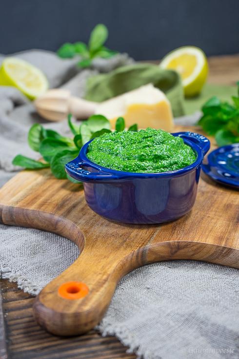 Kanarische Salzkartoffel mit Feldsalat-Pesto 2