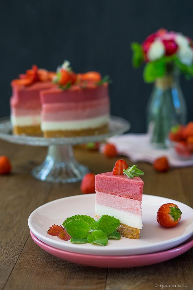 Erdbeer Ombre Torte 4