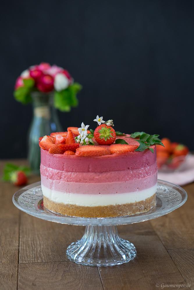 Erdbeer Ombre Torte 3