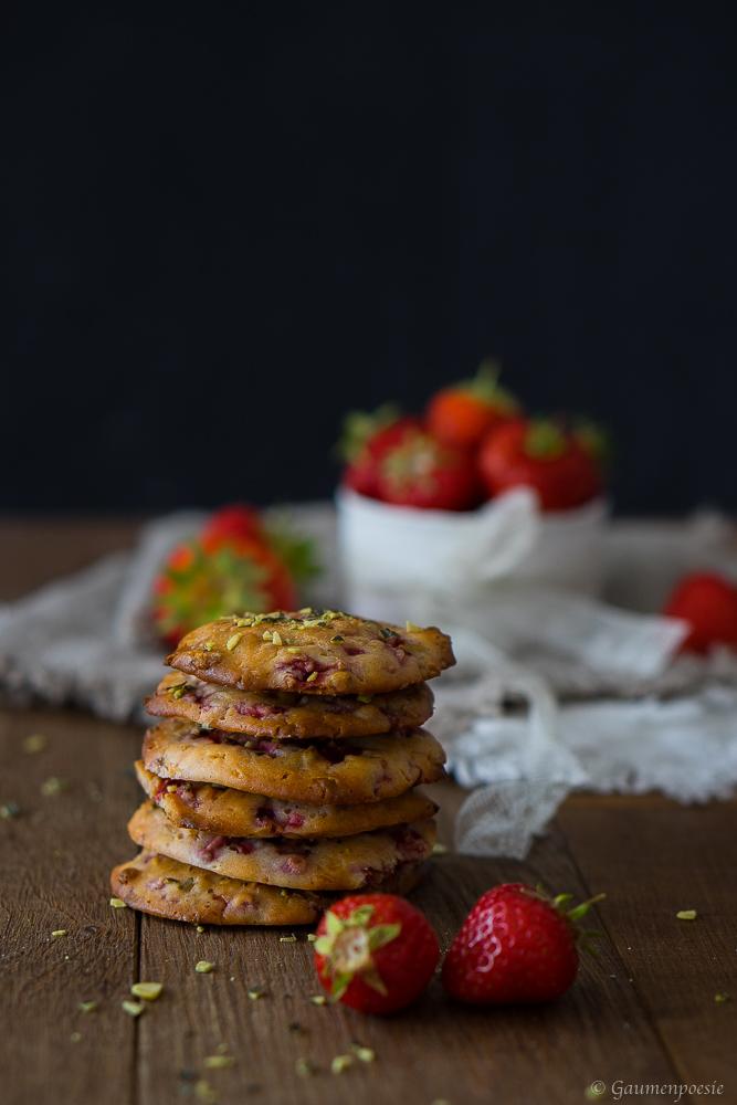 Erdbeer Cookies 3