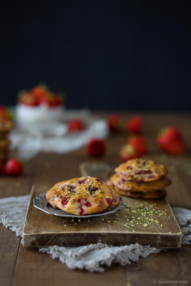 Erdbeer Cookies 2