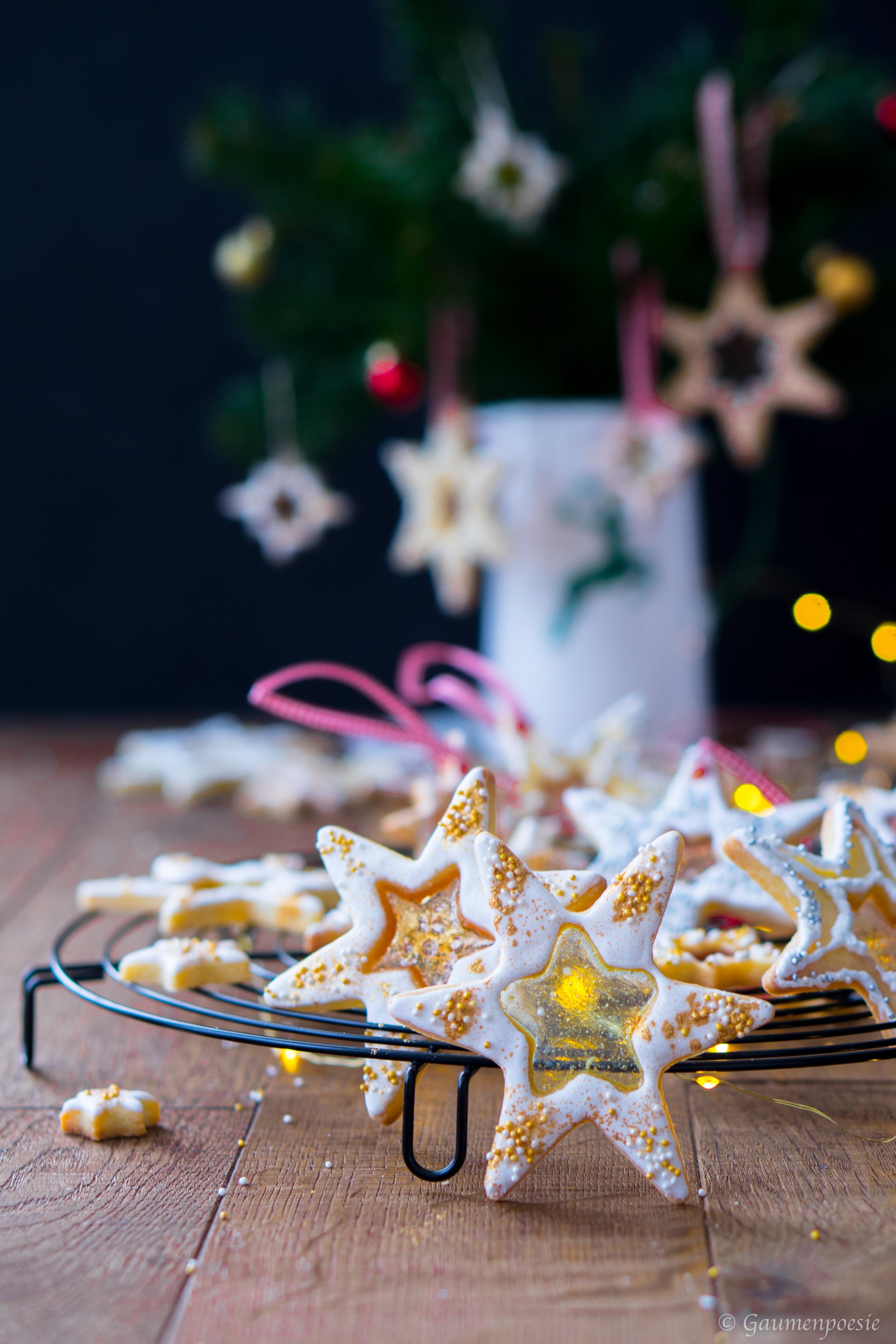Buntglas-Kekse