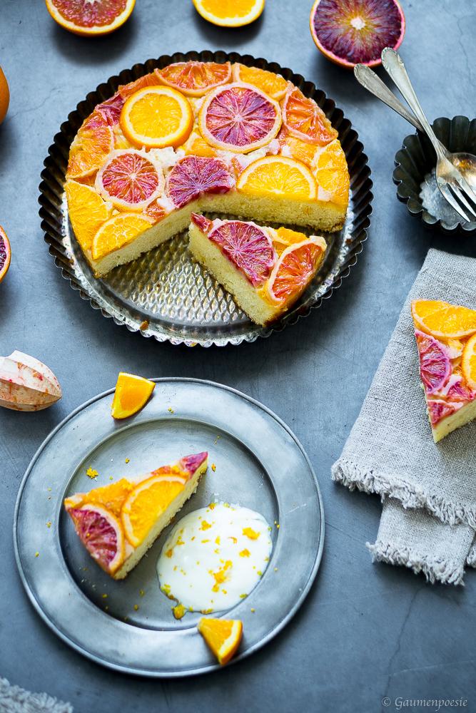 Upside-Down Cake mit Zitrusfrüchten 3