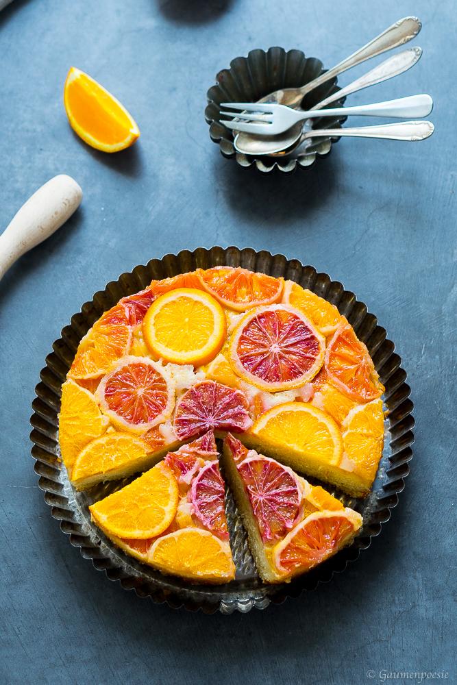 Upside-Down Cake mit Zitrusfrüchten 2