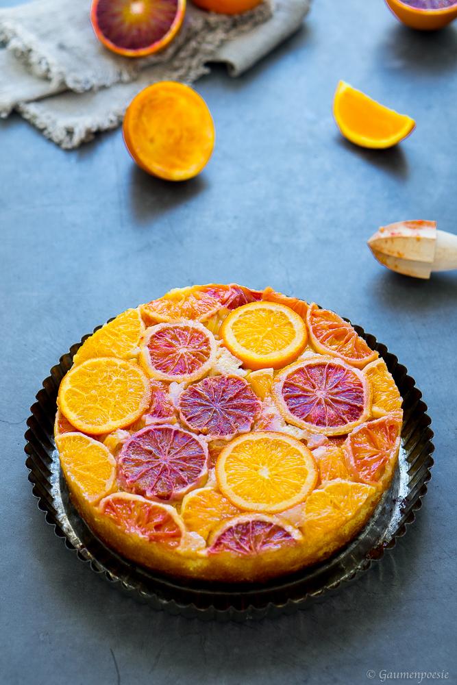 Upside-Down Cake mit Zitrusfrüchten 1