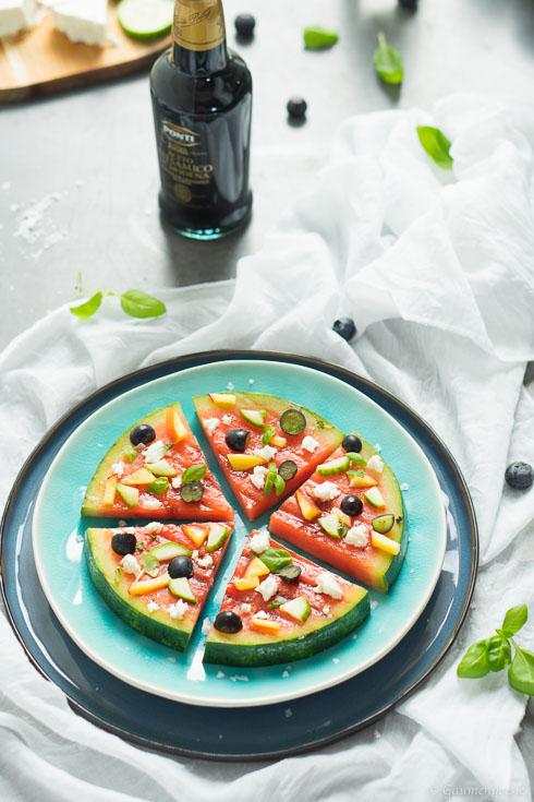 Gegrillte Wassermelonen-Pizza
