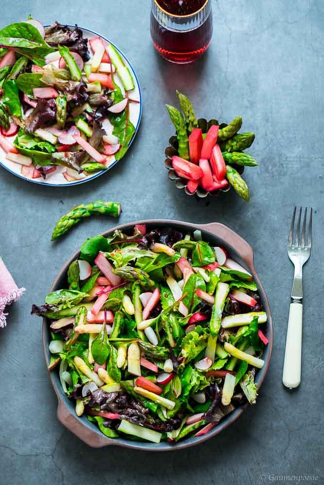 Sommerlicher Rhabarber-Spargel-Salat 3