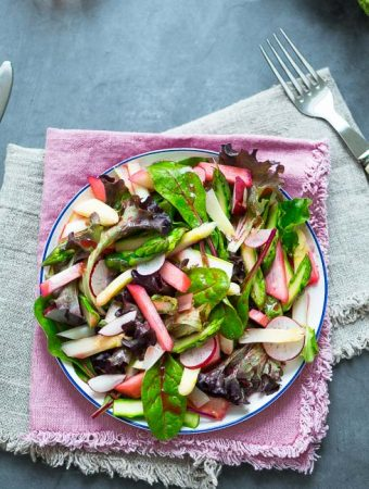 Sommerlicher Rhabarber-Spargel-Salat - Beitragsbild